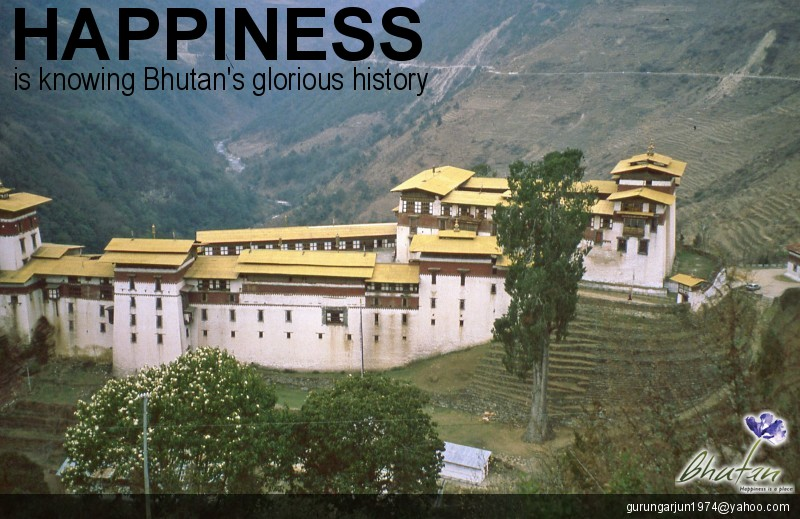 Happiness is knowing Bhutan's glorious history