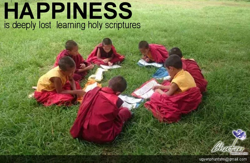 Happiness is deeply lost  learning holy scriptures