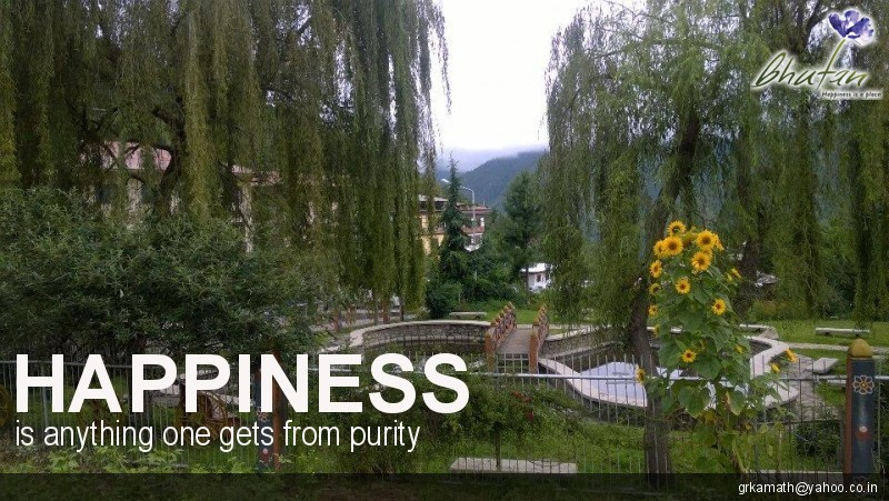 Happiness is anything one gets from purity