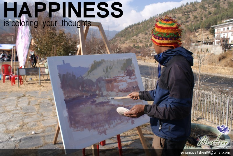 Happiness is coloring  your  thoughts