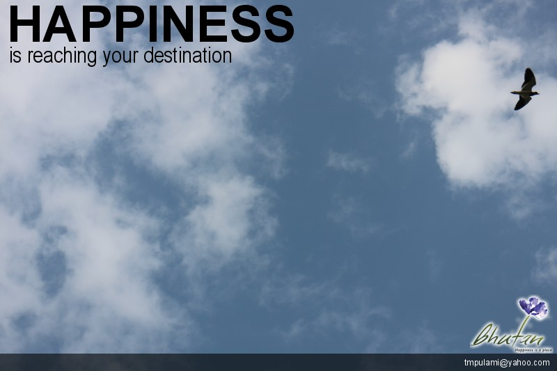 Happiness is reaching your destination