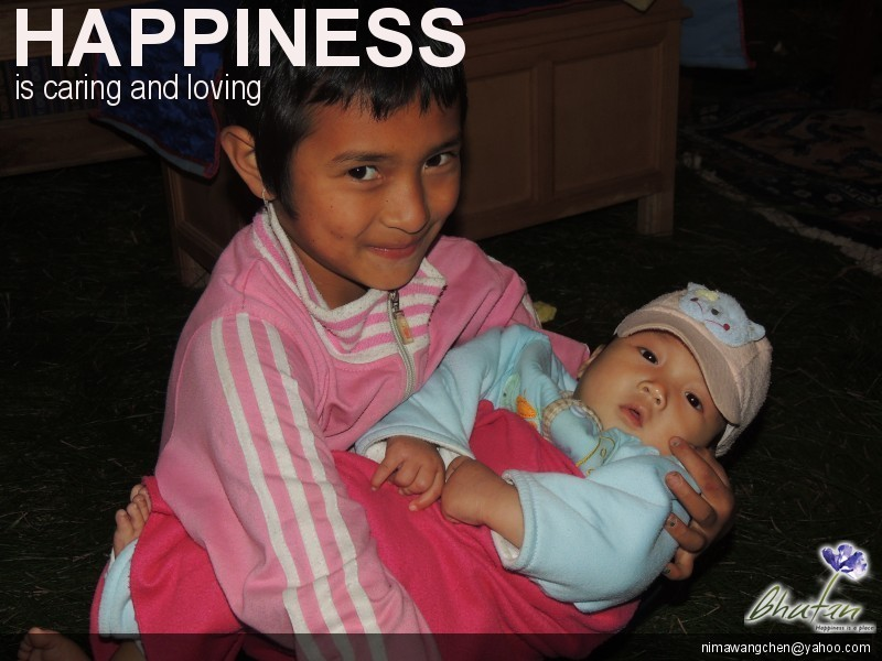 Happiness is caring and loving