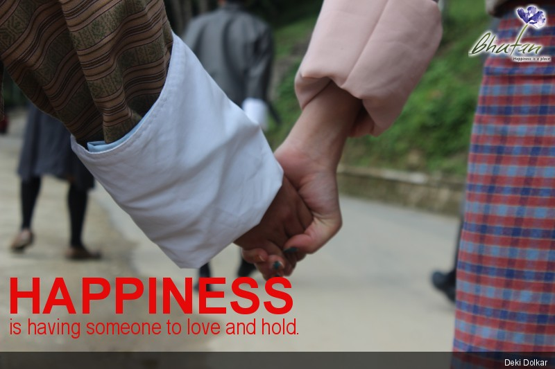 Happiness is having someone to love and hold.