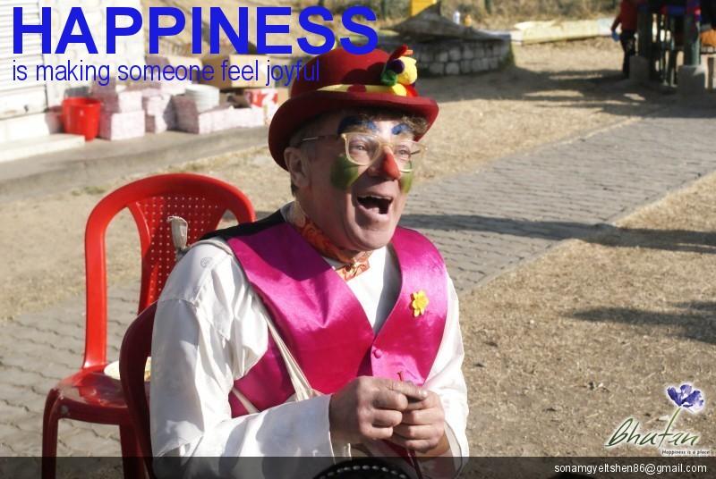 Happiness is making someone feel joyful
