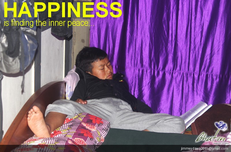 Happiness is finding the inner peace...