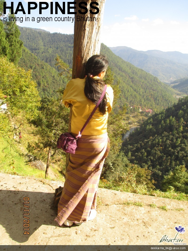 Happiness is living in a green country Bhutan