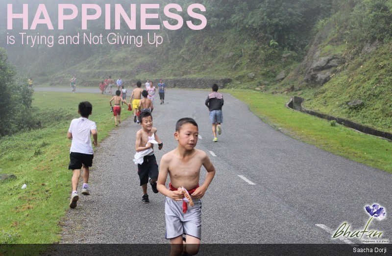 Happiness is Trying and Not Giving Up