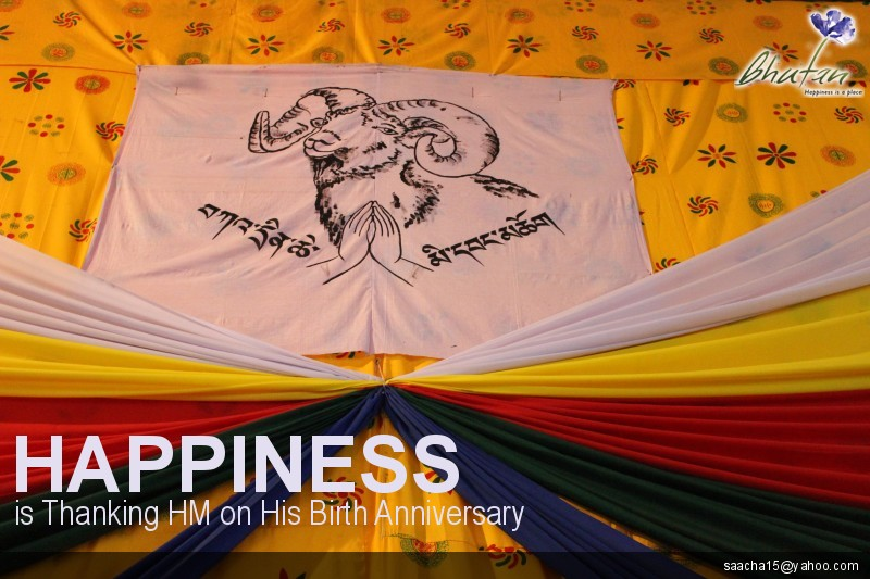 Happiness is Thanking HM on His Birth Anniversary