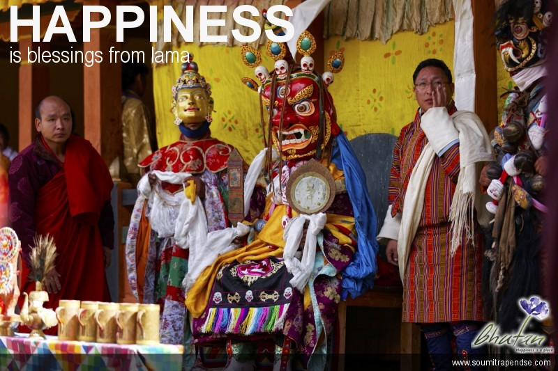 Happiness is blessings from lama