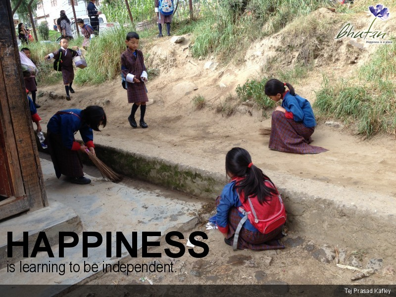 Happiness is learning to be independent.