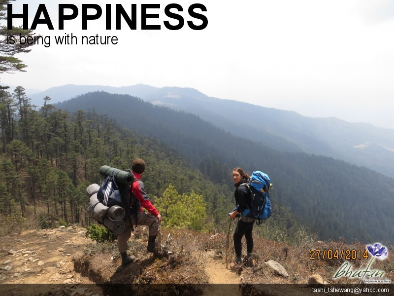 Happiness is being with nature