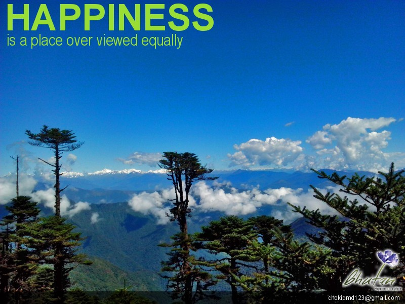Happiness is a place over viewed equally