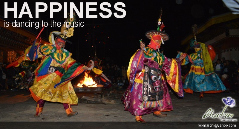 Happiness is dancing to the music