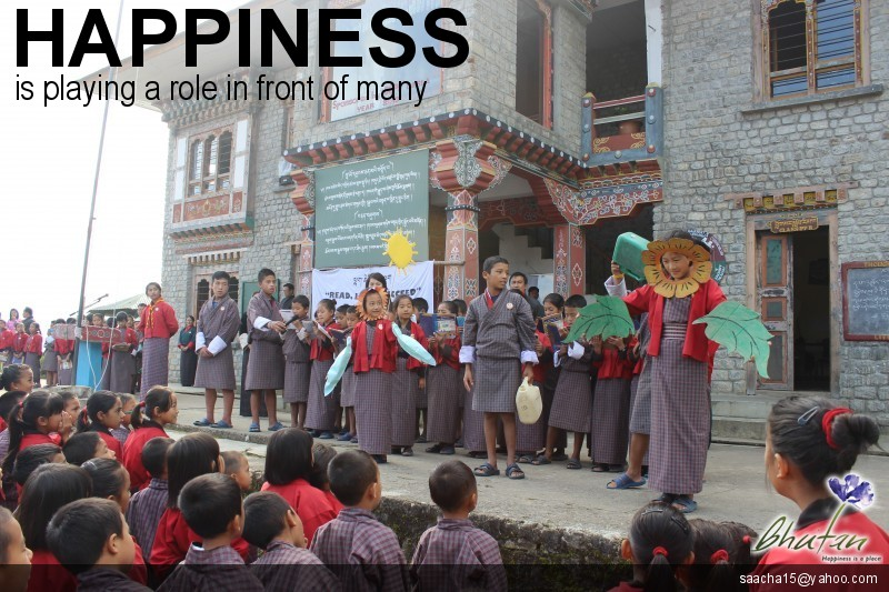 Happiness is playing a role in front of many
