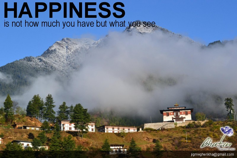 Happiness is not how much you have but what you see.