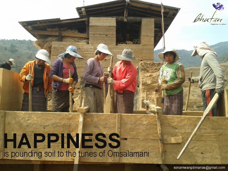 Happiness is pounding soil to the tunes of Omsalamani