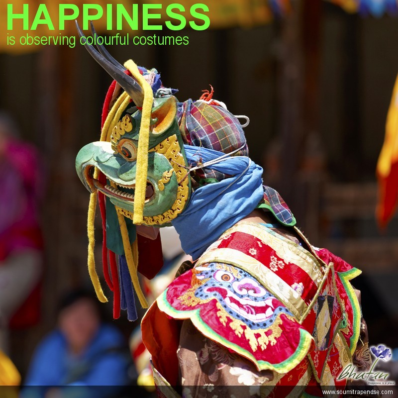 Happiness is observing colourful costumes