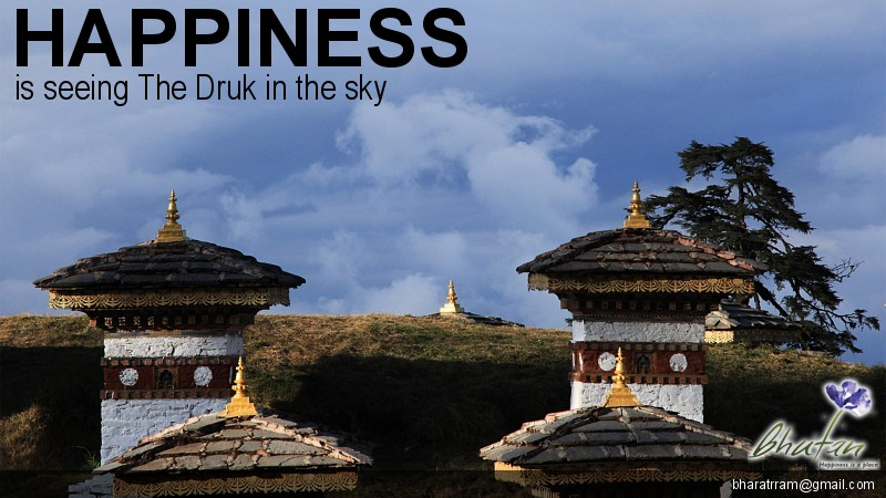 Happiness is seeing The Druk in the sky
