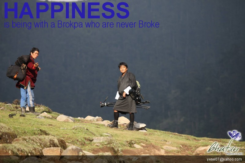 Happiness is being with a Brokpa who are never Broke