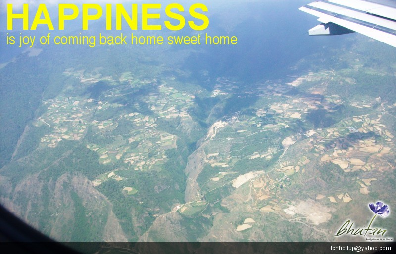 Happiness is joy of coming back home sweet home