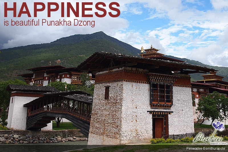 Happiness is beautiful Punakha Dzong
