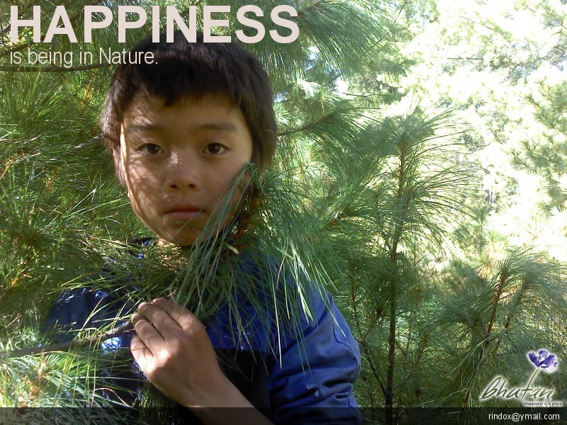 Happiness is being in Nature.