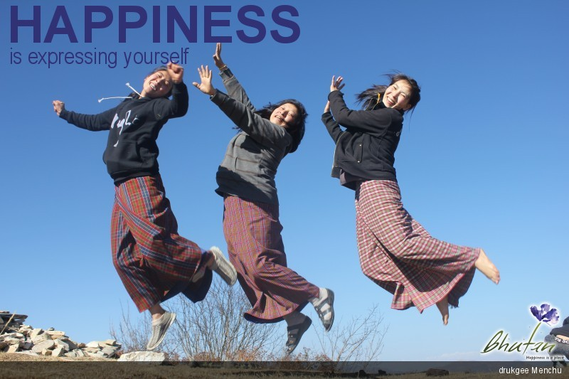 Happiness is expressing yourself