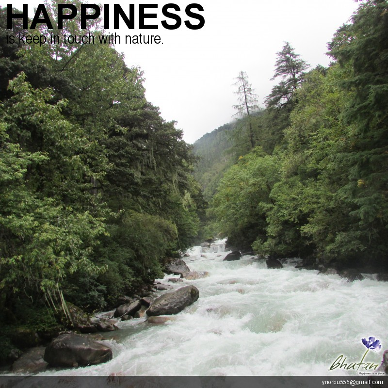 Happiness is keep in touch with nature.