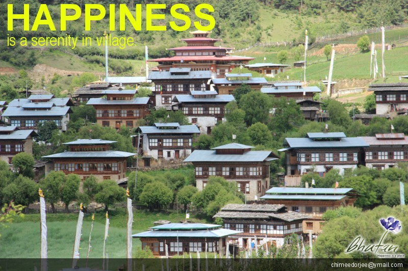 Happiness is a serenity in village.
