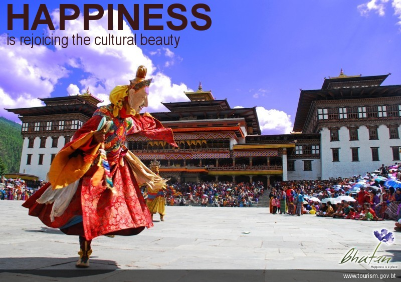 Happiness is rejoicing the cultural beauty