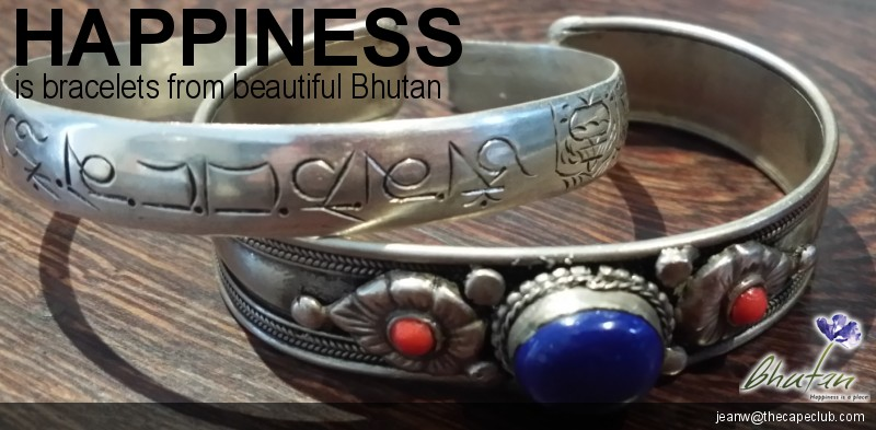 Happiness is bracelets from beautiful Bhutan