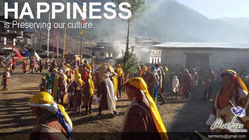 Happiness is Preserving our culture