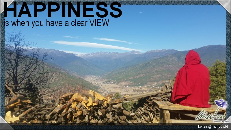 Happiness is when you have a clear VIEW