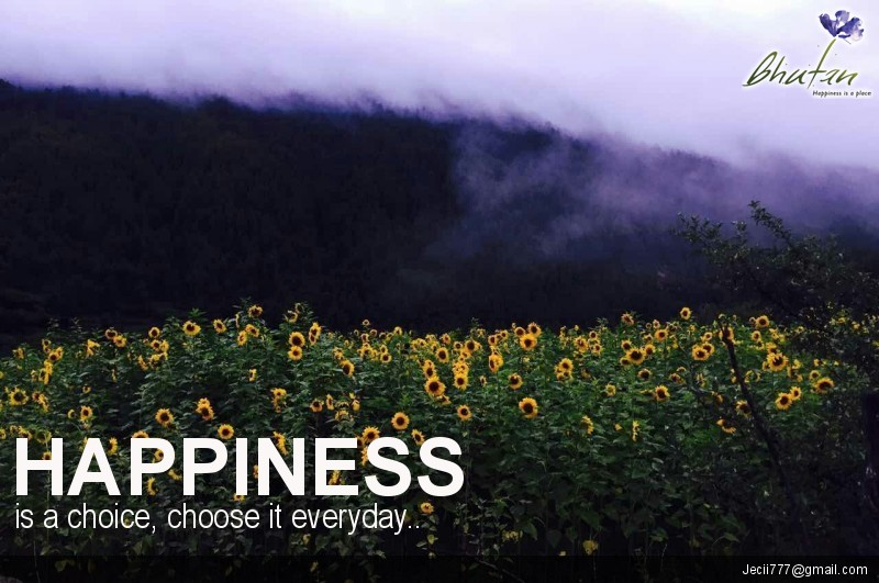 Happiness is a choice, choose it everyday..