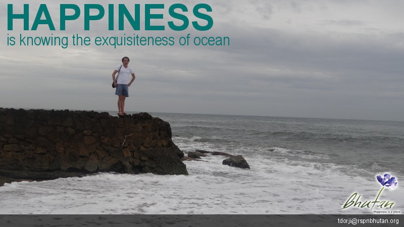Happiness is knowing the exquisiteness of ocean