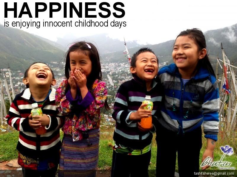 Happiness is enjoying innocent childhood days