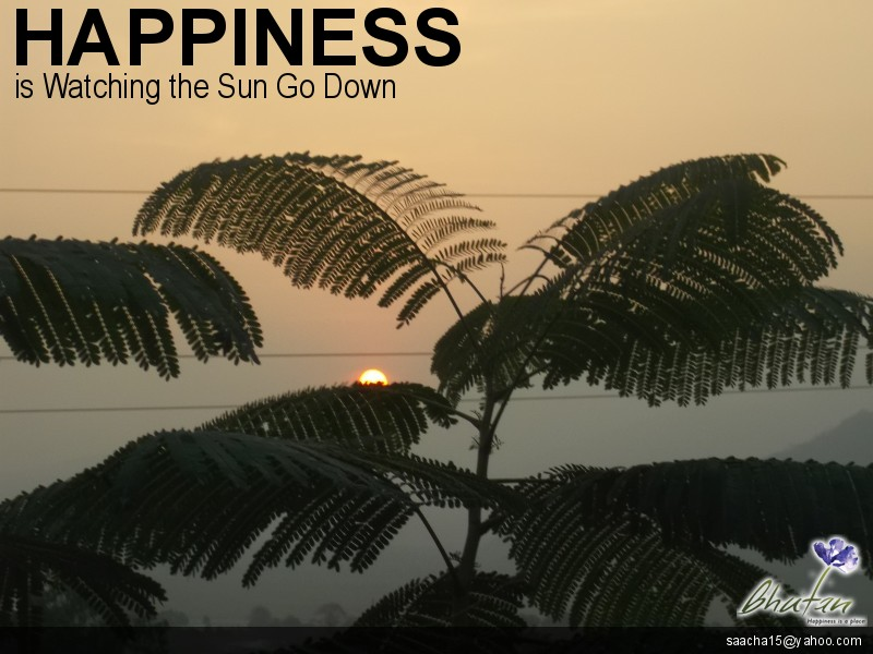 Happiness is Watching the Sun Go Down