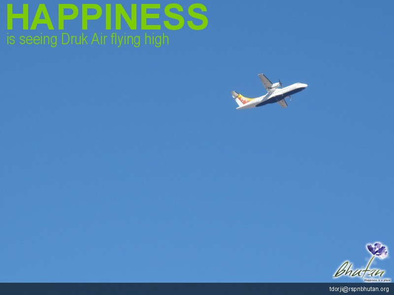 Happiness is seeing Druk Air flying high