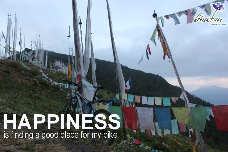 Happiness is finding a good place for my bike