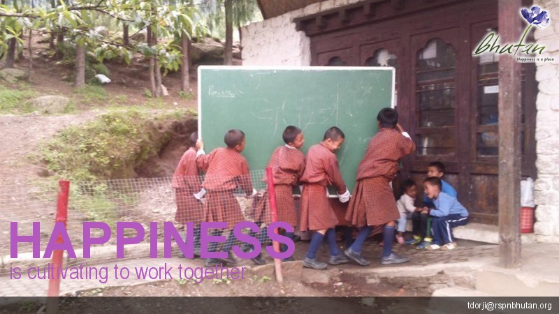 Happiness is cultivating to work together