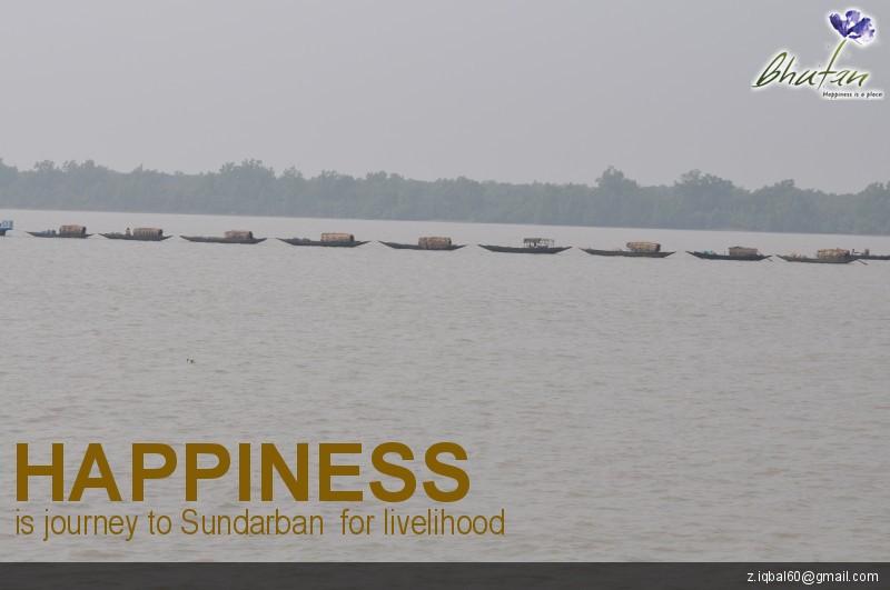 Happiness is journey to Sundarban  for livelihood