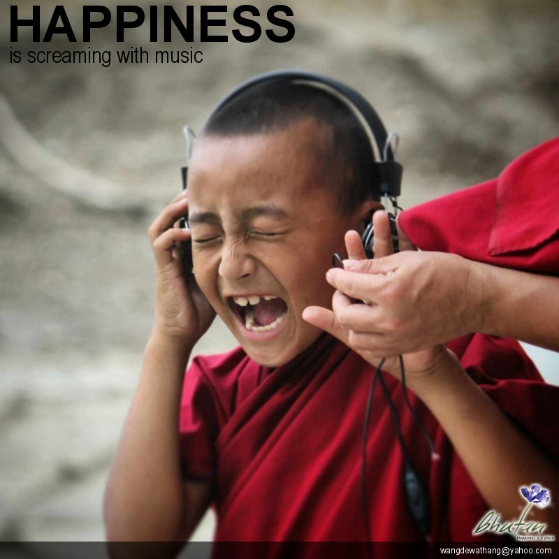 Happiness is screaming with music