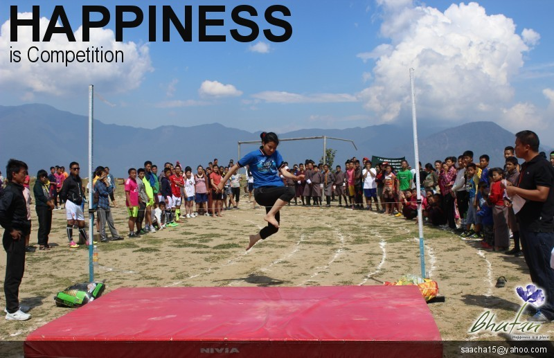 Happiness is Competition