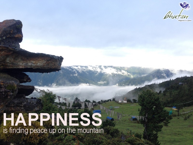 Happiness is finding peace up on the mountain