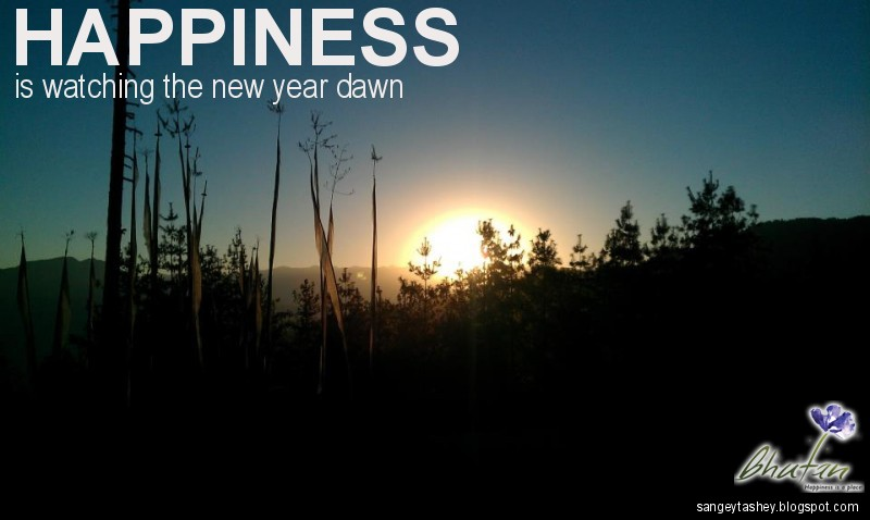 Happiness is watching the new year dawn