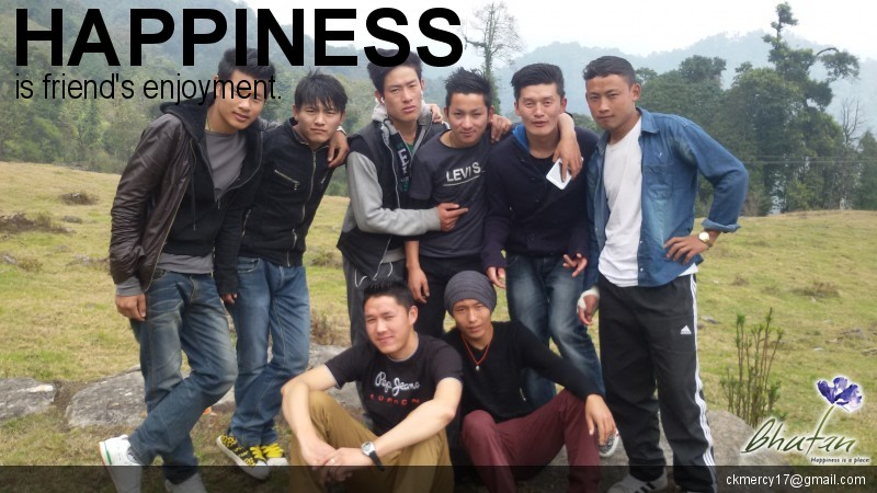 Happiness is friend's enjoyment.