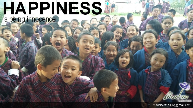 Happiness is being innocence