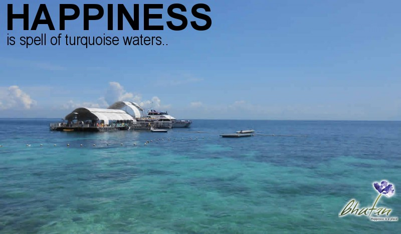 Happiness is spell of turquoise waters..