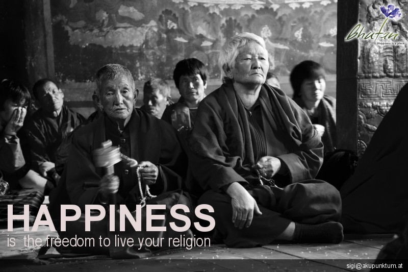Happiness is  the freedom to live your religion