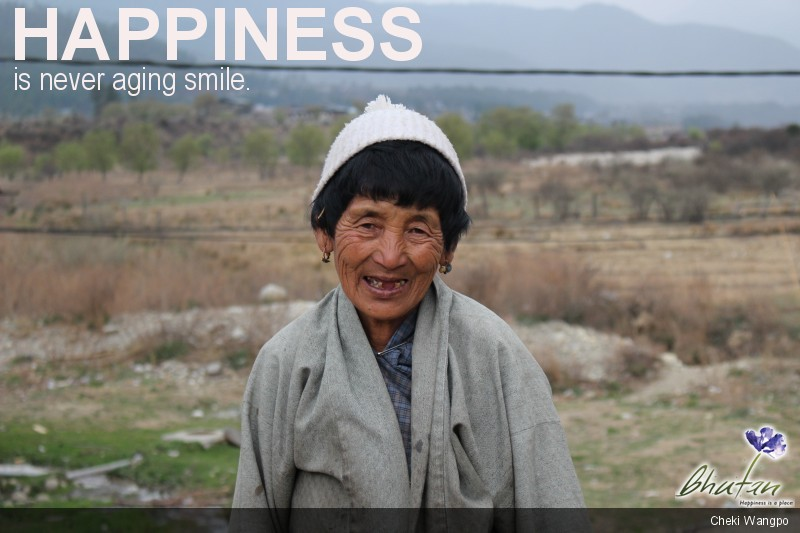 Happiness is never aging smile.